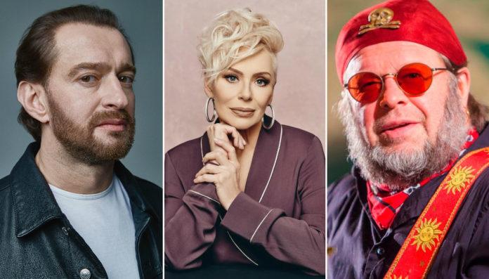 Костянтин Хабенський, Ірина Понаровська, Борис Гребенщиков