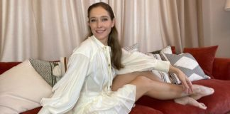 Катя Осадчая раскинула свои длинные ноги в ожидании Юры Горбунова