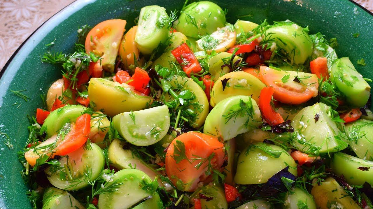 (Видео) Рецепт маринованных зеленых помидоров. Зимой будет как находка!