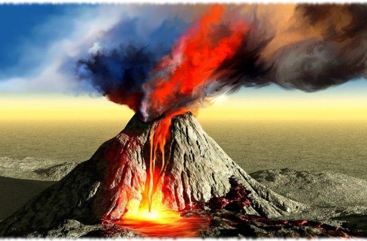 Почему происходят извержение вулканов?