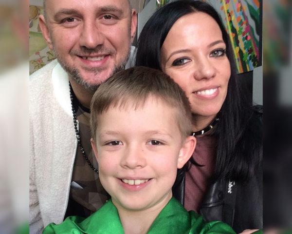 Потап с бывшей женой Ириной Горовой и их сыном Андреем