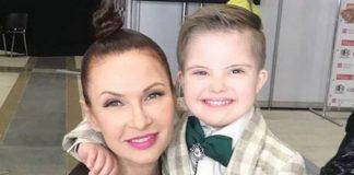 Евеліна Бледанс з сином Семеном