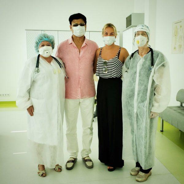 Камалия и Захур в больнице