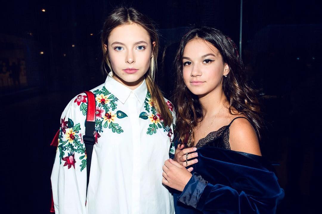 Маша з подругою на модельному кастингу