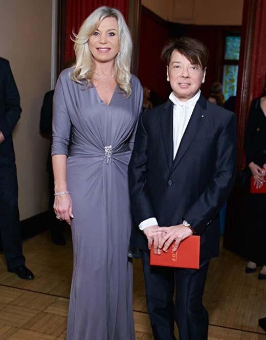 Валентин Юдашкін з дружиною Мариною