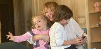 Алла Пугачова з двійнятами Лізою і Гаррі