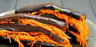 Закуска з баклажанів з корейською морквою