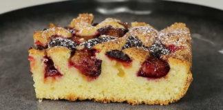 Смачний пиріг зі сливами