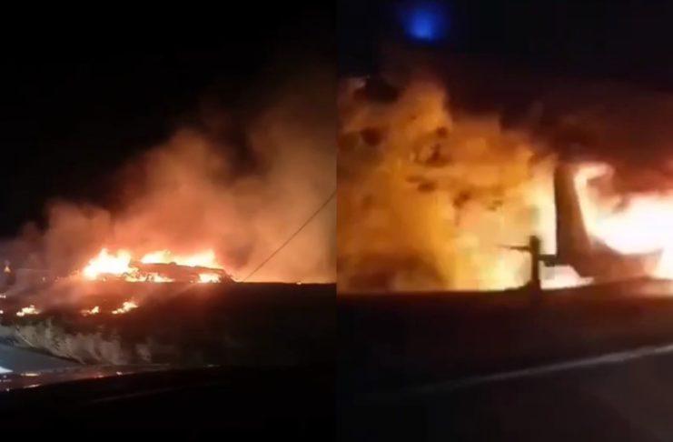 Падение самолета под Харьковом
