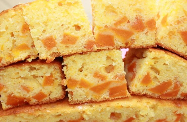 Пирог с кусочками тыквы