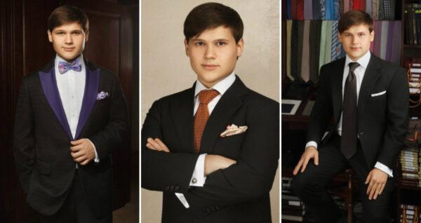 Александр Порядинский в фотосессии для ателье