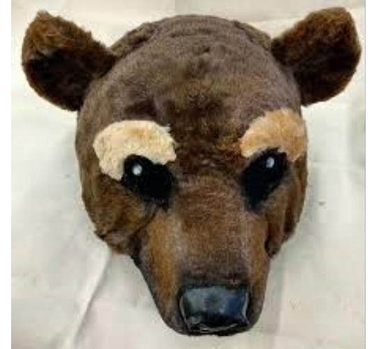 Тільки маска балетки ведмедя важить майже 5 кг