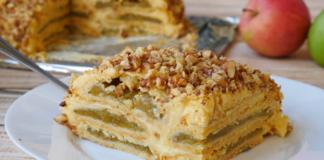 Баварський яблучний торт – простий рецепт