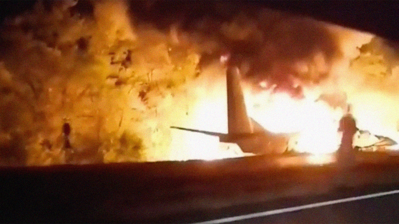 Падение самолета в Харьковской области - появилось видео аварии