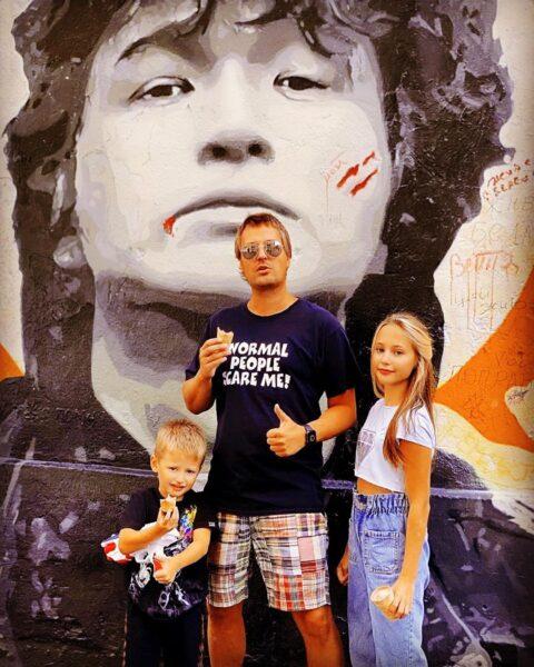 Витас с дочкой Аллой и сыном Максимом