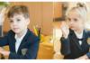 Гарри и Лиза Галкины в школе