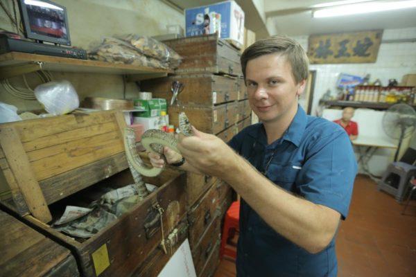 Дмитрий Комаров показывает обратную сторону Гонконга — в городе большая проблема со змеями