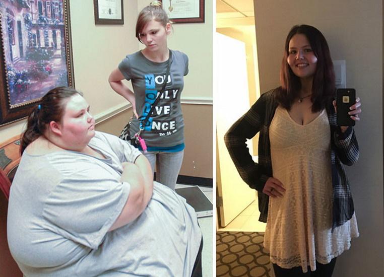 Дівчина схудла на 240 кг