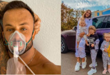 Дмитро Стужук за день до смерті і його сім'я