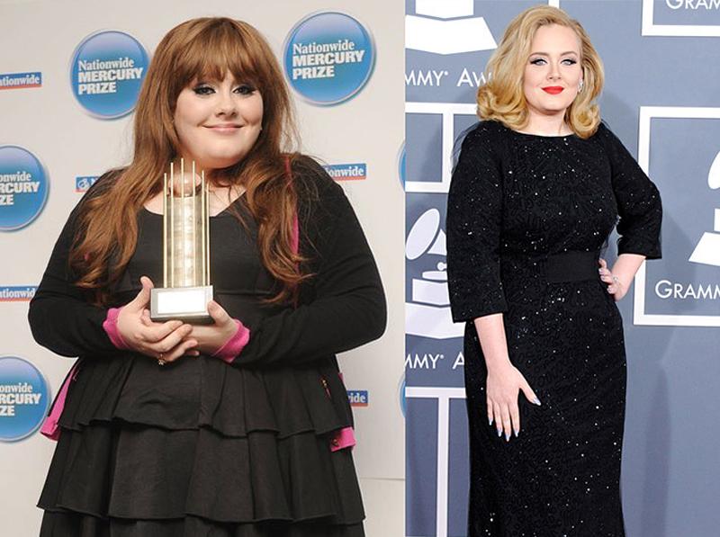 Адель до і після схуднення