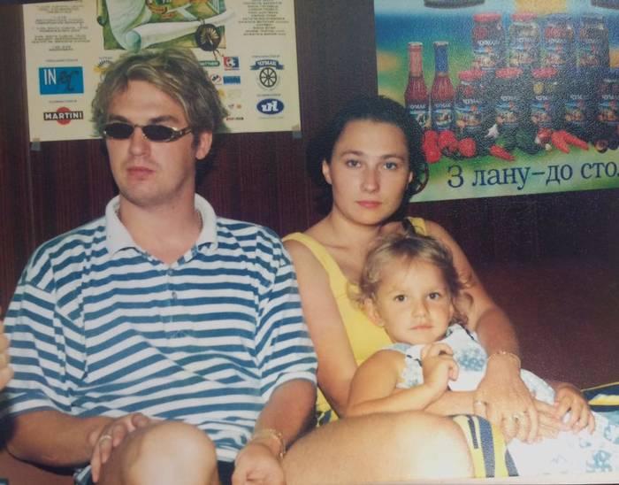 Алена Мозговая и Александр Пономарев с Женей