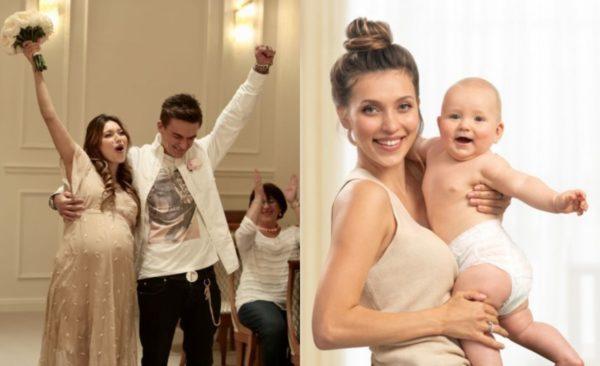Регина Тодоренко с Владом Топаловым и их сыном Майклом