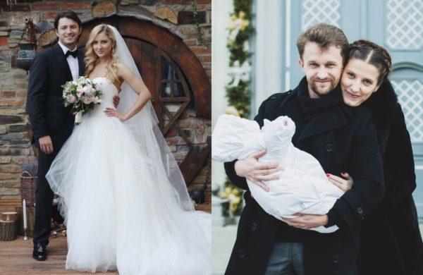 Сергей Притула со своей новой женой Екатериной и его бывшая супруга Юлия со своим нынешним мужем Борисом