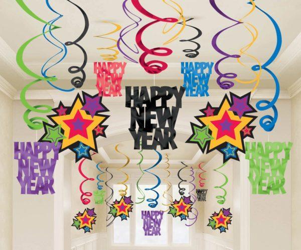 Новорічний декор на стелю - дешево і красиво