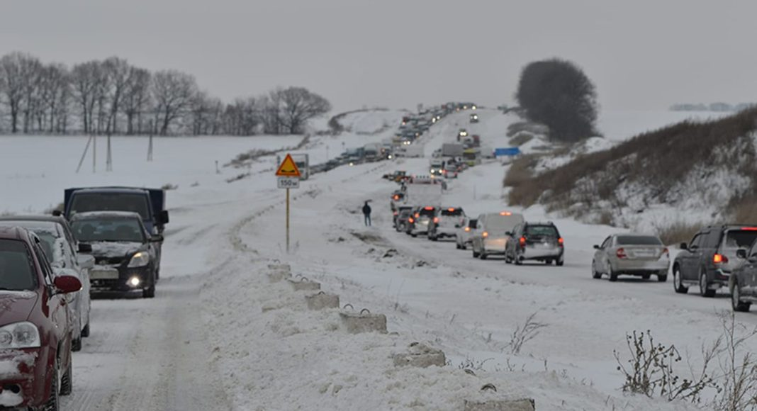 Первые снегопады в Украине