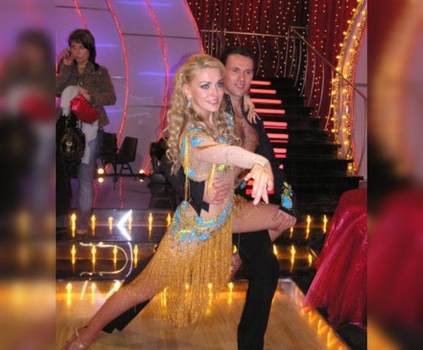 Ольга Сумская и Игорь Бондаренко в первом сезоне «Танцев»