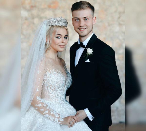 Алина Гросу с бывшим мужем