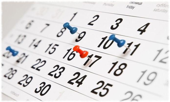 Святкові і вихідні дні в листопаді 2020 року