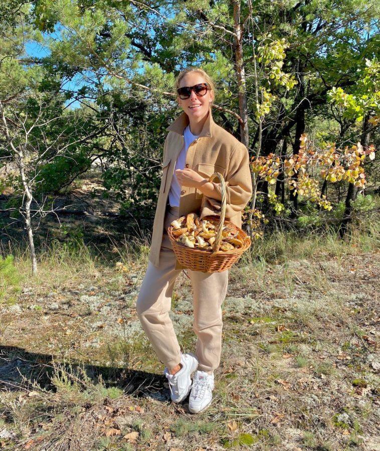 Ось скільки грибочків назбирала Катя Осадча!
