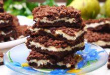Шоколадне печиво з сирною начинкою