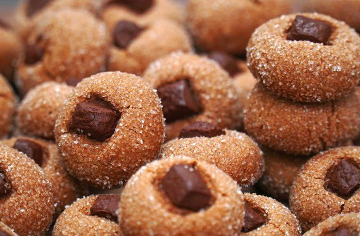 Ароматное печенье с шоколадом