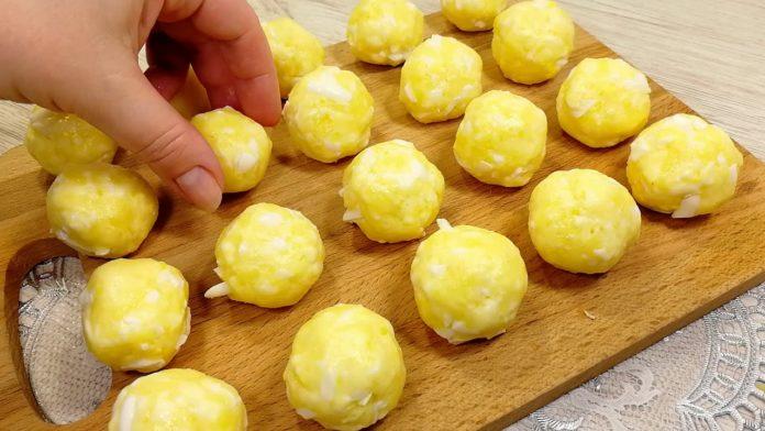 Смачна закуска з картоплі, сиру та яєць