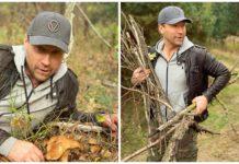Олег Винник показав фотографії з теплого осіннього вихідного дня - усамітнився в лісі з коханою