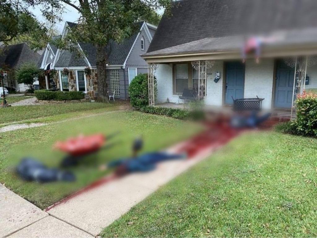 Американец к Хеллоуину украсил участок реалистичными «трупами» – соседи вызывали полицию (ФОТО)