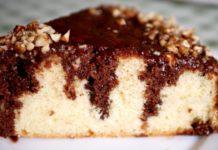 Бісквітний пиріг з просоченням