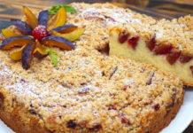 Пиріг на сметані з фруктами