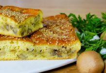 Пиріг з капустою і грибами за 25 хвилин