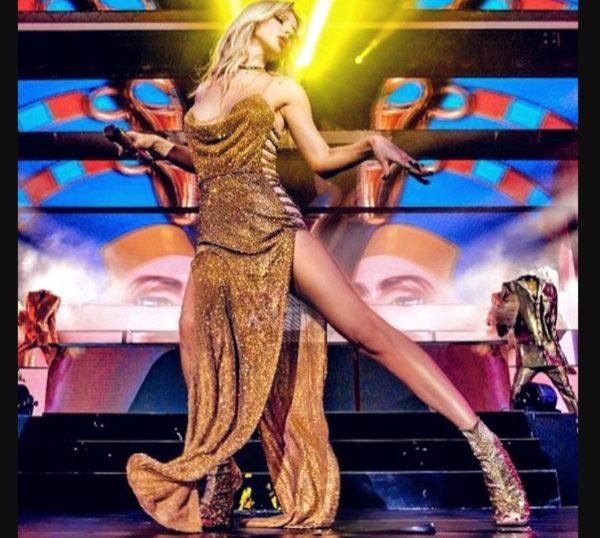 Лобода в золотій сукні