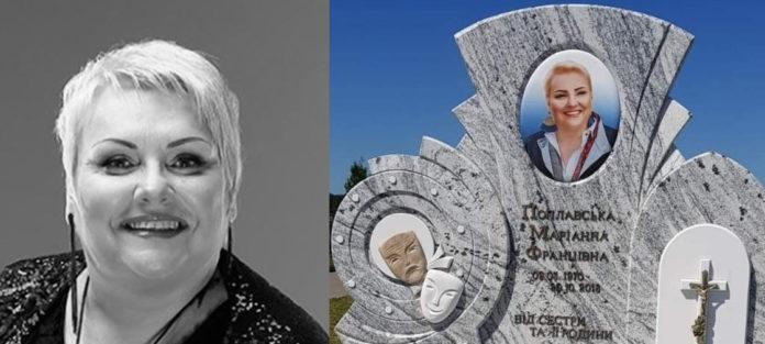 Марина Поплавская и ее надгробие