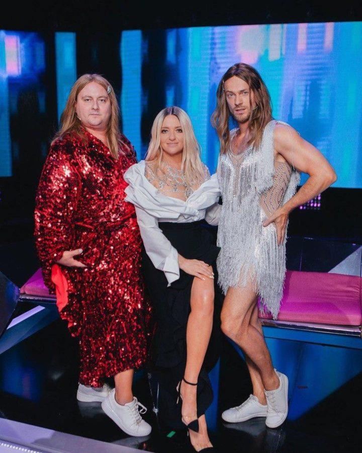 Влад Яма, Наталья Могилевская и кака-то толстая тетка в блестящем халате