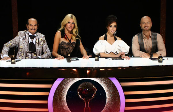 Леся Никитюк в 13 эфире «Танцев со звездами» с остальными судьями