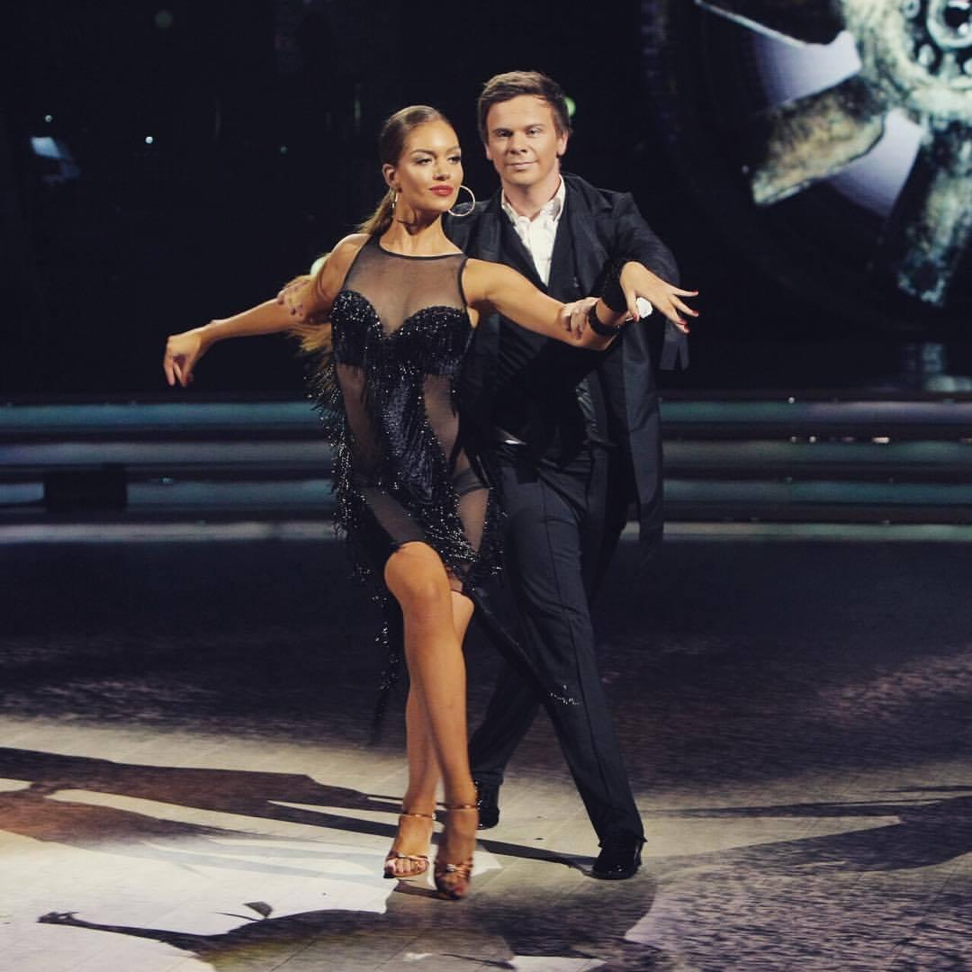 Дмитрий Комаров и Александра Кучеренко на «Танцах со звездами»