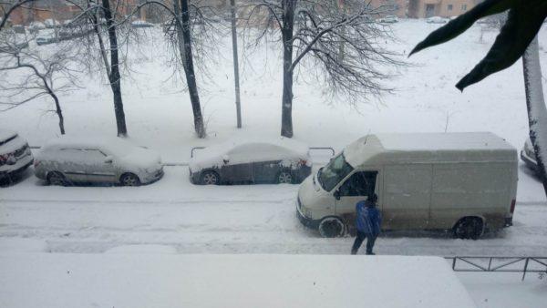 Первый снего в Харькове 2020