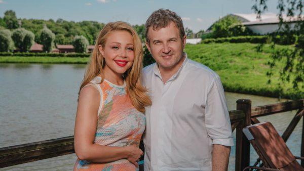 Тина Кароль и Юрий Горбунов на съемочной площадке
