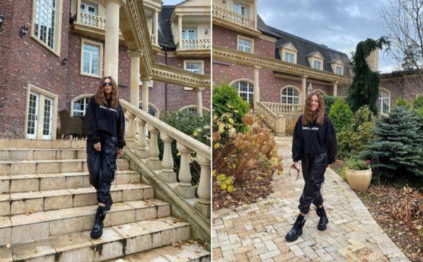 Ани Лорак позирует на фоне своего особняка в Подмосковье