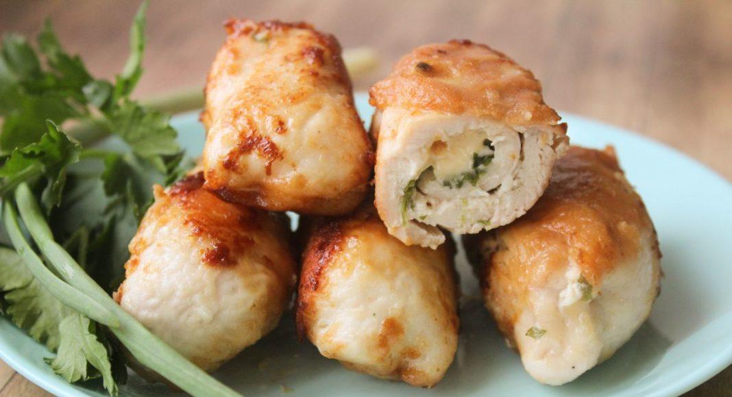 Простые, очень вкусные и сочные куриные рулетики с сыром